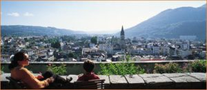 Panoramic view of Lourdes