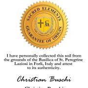 Certificate Saint Peregrine