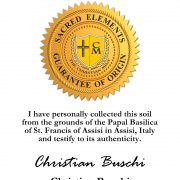 Certificate Saint Francis